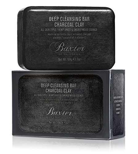 Baxter of California Deep Cleansing Body Soap Bar, Charcoal Clay, 7 oz.