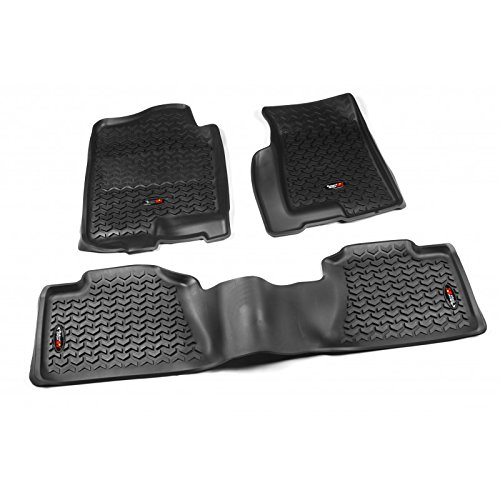 - Rugged Ridge All-Terrain Black Front and Rear Floor Liner Kit For Select Cadillac Escalade, Chevrolet Avalanche, Silverado, Suburban, Tahoe, GMC Sierra and Yukon Models