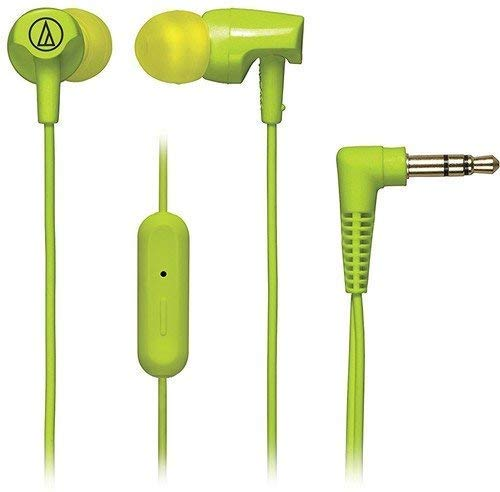 Renewed  Audio Technica SonicFuel ATH CLR100iSLG in Ear Headphones with Mic  Lime Green