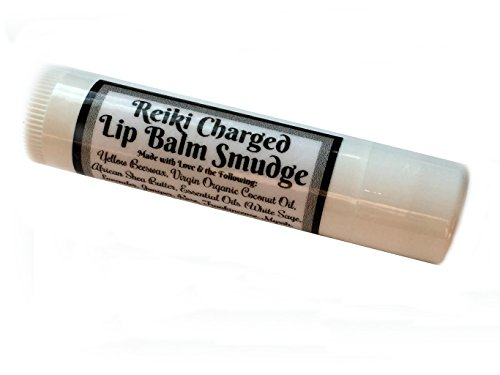 Reiki Charged ULTIMATE SMUDGE LIP BALM Beeswax All Natural Chapstick 0.15 oz ounce Reiki White Sage Essential Oil infused Small Chakra Clearing Healing Spiritual Psychic Protection (Ounce Solid Fragrance 0.15)