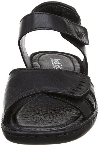 Josef Seibel Dames Lisa 01 Sandalen, Groen Zwart (zwart)