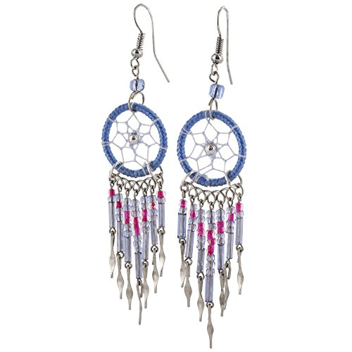 Dreamcatcher Earrings (Blue) -