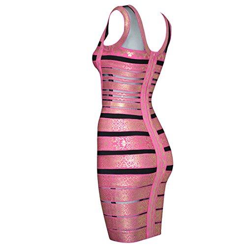 Gelb HLBCBG Violett Violett Kleid Damen Violett x66qptOw