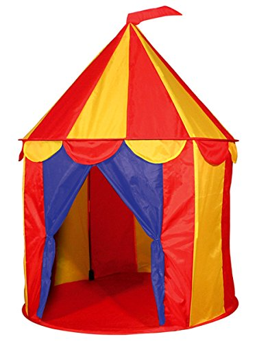 POCO DIVO Red Floor Circus Tent Indoor Children Play House Outdoor Kids Castle ()