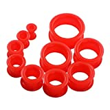 red 2g plugs - 20pcs Red Tunnels Kit 2g-1