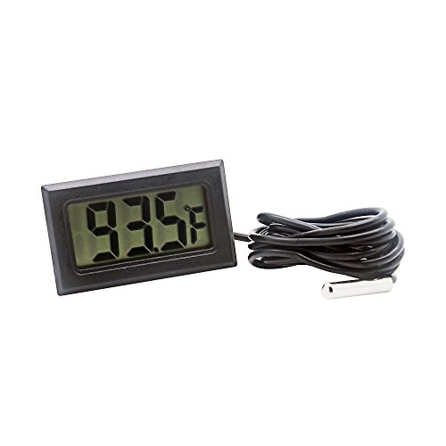 Digital Refrigerator Thermometer LCD Display Thermostat Oven Thermometer Freezer Electronic Temperature Hygrometer with Probe for Vehicle Fish Tank Aquarium Incubators Brooders Climb Pet(Fahrenheit)
