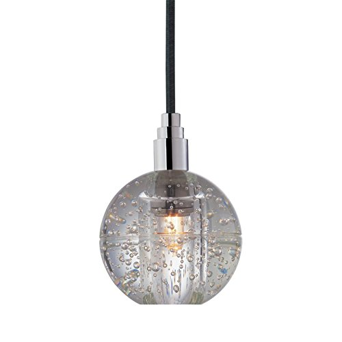 Hudson Valley Lighting Naples 1-Light Pendant - Polished Chrome Finish with Clear Seedy Glass ()