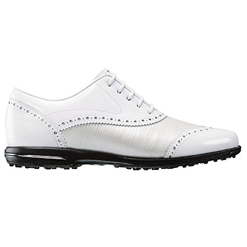 FootJoy Ladies Tailored Collection Golf Shoes White/Pearl Linen 7.5 Medium