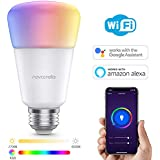 Novostella Smart Light Bulb, 12W RGBCW with Tunable White 2700-6500K A19 E26 WiFi LED Bulb Dimmable Multicolor Lights, No Hub Required, Compatible with Alexa and Google Home, 100W Equivalent, 1 Pack