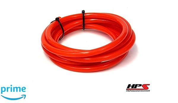 1.5mm Wall HPS 1//8 ID Black High Temp Silicone Vacuum Hose Tubing Sold Per Feet