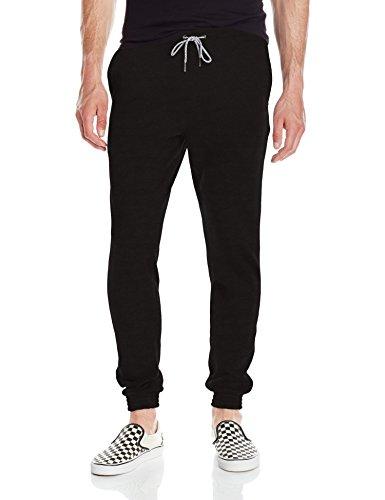 Volcom Men's Single Stone Fleece Pant, Black, Large