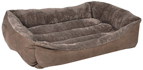 HappyCare Textiles HCT-REC-007 Rectangle Pet Bed, 25″ by 21″, Brown/Coffee Review