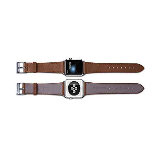 Lucrin - Apple Watch band 38 mm – Elegance - Tan - Goat Leather by Lucrin (Image #3)