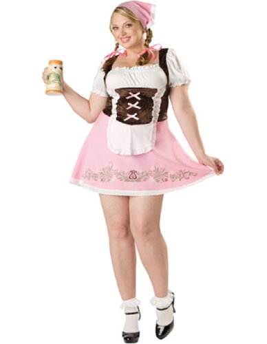 Costumes Size Plus Girl Bavarian Womens (Fetching Fraulein Adult Costume - Plus Size)