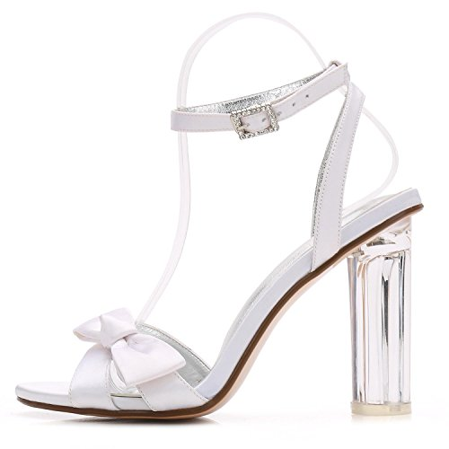 L@YC Women Wedding Shoes Bride F2615-1 Crystal Platform Thick With Peep Toe Party/Prom/Sandals Champagne PDBoxcAx
