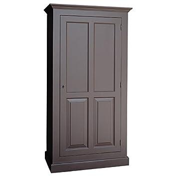 Armoire étroite pin massif 2 portes penderie et étagère.Meuble en ...