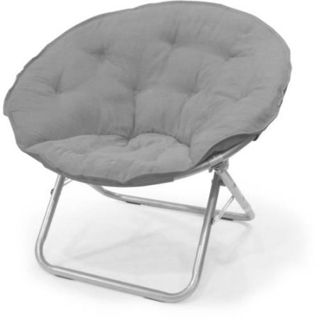 (Mainstays Large Microsuede Saucer Chair, Light Grey)
