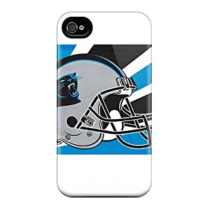 Hot Design Premium XFG1599oKwg Tpu Case Cover Apple Iphone 4/4S Protection Case(carolina Panthers)