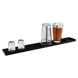 Amazon Com Rubber Bar Service Spill Mat Black Bar