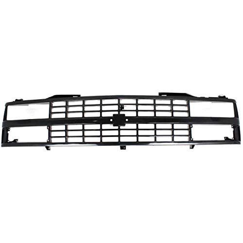 New Front Grille For 1988-1993 Chevrolet C/K Full Size Pickup, Black, With Dual Or Composite Head Light, Chevy Only GM1200228 88960431