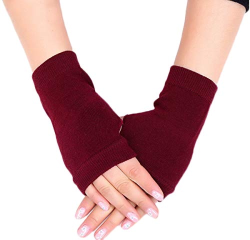 1 Pair Women Winter Warm Fingerless Gloves Knit Thumbhole Arm Warmers Mittens