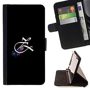 For LG G4 Case , Letra inicial Caligrafía Z- la tarjeta de Crédito Slots PU Funda de cuero Monedero caso cubierta de piel