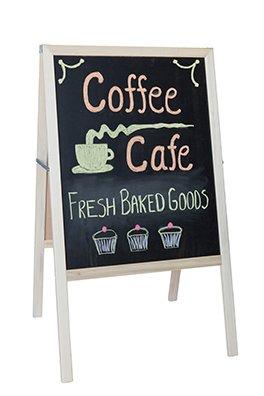 UPC 813744012082, Crestline 312BB Marquee Easel - Natural Hardwood, Two Black Chalkboards