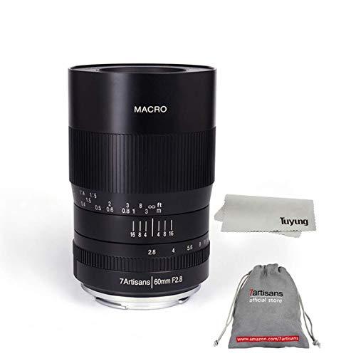 7artisans 60mm F2.8 APS-C Manual Focus Macro Lens Widely Fit for Fuji X-A1 X-A10 X-A2 X-A3 A-at X-M1 XM2 X-T1 X-T10 X-T2 X-T20 X-Pro1 X-Pro2 X-E1 X-E2 E-E2s Mirrorless Cameras
