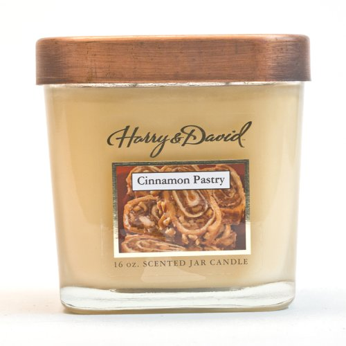 MVP Group International Harry and David 16-Ounce Jar Candle, Large, Cinnamon Pastry