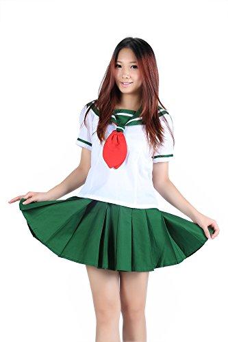 SDWKIT InuYasha Cosplay Costume - Higurashi Kagome Summer Uniform