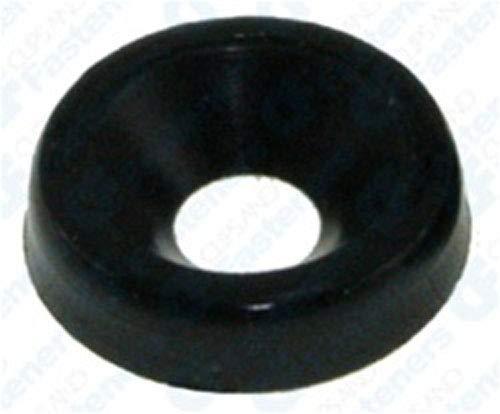 50 #10 Nylon Finishing Washers - Black Clipsandfasteners Inc