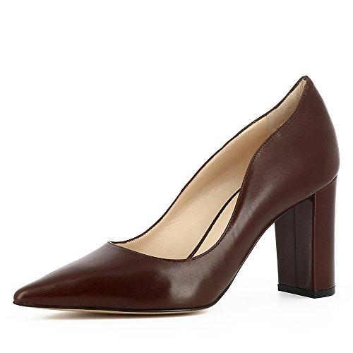 Jessica Foncé Lisse Shoes Evita Cuir Marron Escarpins Femme zP8wPgxq5