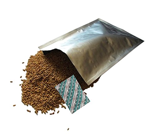 """50 - 1 Gallon (10""""x14"""") Dry-Packs Mylar Bags & 50 - 300cc Oxygen Absorbers for Dried Dehydrated and Long Term Food Storage"""