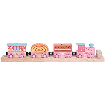 Bigjigs Rail Sweetland Express Train - Other Major Wooden Rail Brands are Compatible