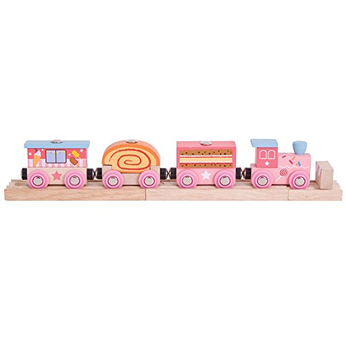Bigjigs Rail Sweetland Express Train - Other Major Wooden Rail Brands are Compatible -