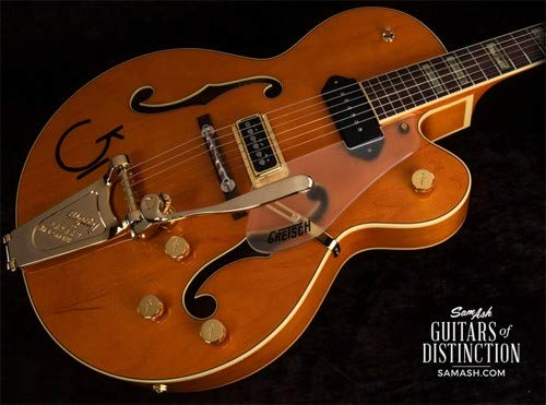- Gretsch G6120 Eddie Cochran Signature Hollow Body Electric Guitar with Bigsby Western Maple Stain (SN:JT18114379)
