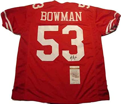 62ad5bdfc Navorro Bowman Autographed Signed 49ers Jersey at Amazon s Sports ...