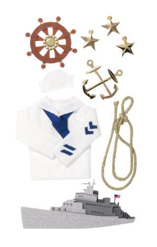 Jolee's Boutique Le Grande Dimensional Stickers, Navy
