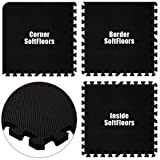 Floor Pad, SoftFloors, Black, 16' x 16' Set, Total Sq. Ft.:256