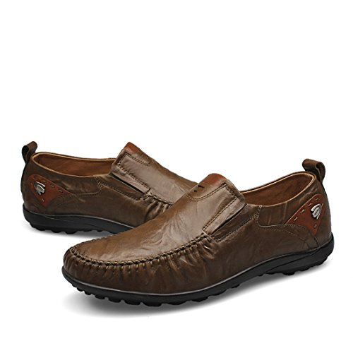 Mens Classic Casual Loafers - Driving Moccasins Soft Slip On Shoes 23419 Khaki PJa6R