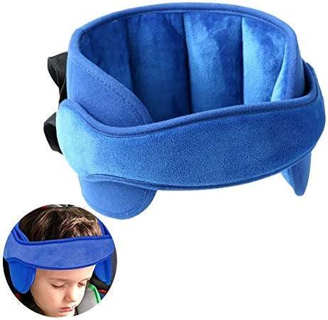 Reposacabezas para niños reposacabezas para niños asientos de coche almohada para el cuello Reposacabezas ajustable para niños azul para asiento de automóvil