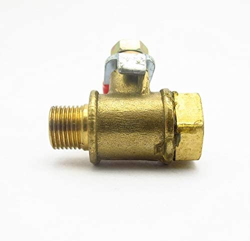 no-branded Female to Male Thread Two Way Brass Pneumatic Shut Off Ball Valve Pipe Fitting Connector Coupler Adapter Valve ZYUS Color : Female to Male, Specification : 1//8