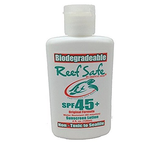Reef safe Biodegradable Sunscreen Lotion spf 45+ original formula 4 fl.oz (Best Biodegradable Sunscreens)