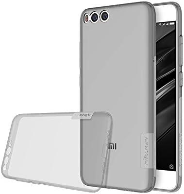 NILLKIN Nature - Funda Carcasa Protectora Trasera de Gel/TPU/Silicona Flexible Antideslizante Case Super Fina para Xiaomi Mi6 - Gris