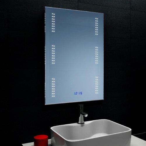 Lux Aqua Badezimmerspiegel Wandspiegel Mit Led Beleuchtung Und Uhr
