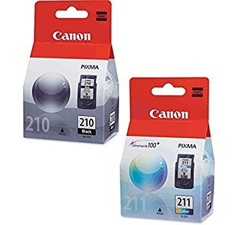 Canon PG-210 Black, CL-211 Color Ink Cartridge Set for PIXMA MP240 MP250 MP270 MX320 MX330 MX340 IP2700 IP2702 Printers OEM ()