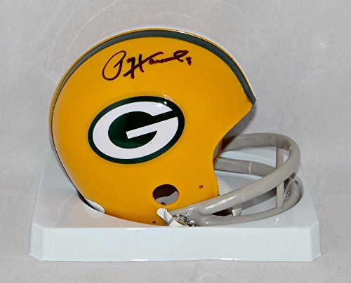 Paul Hornung Autographed Green Bay Packers 2 Bar TB Mini Helmet JSA W Auth BLK (Authentic Tb Mini Helmet)