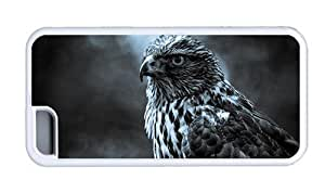 linJUN FENGHipster DIY ipod touch 5 covers Black White Eagle TPU White for Apple ipod touch 5