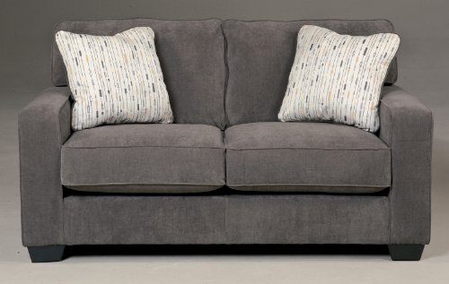 Ashley Hodan 7970035 67″ Loveseat with 2 Pillows Included Loose Seat Cushions and Track Arms in Marble