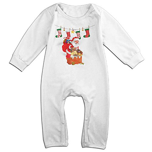 VanillaBubble Santa Claus And GODIVA For 6-24 Months Toddler Particular Romper White Size 24 (Britney Spears School Girl Costumes)